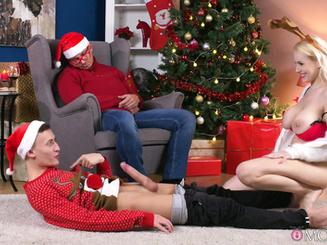 Чувак красиво отодрал жену под новый год