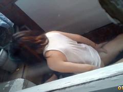 Секс молоденькой пары из Новокузнецка на балконе квартиры